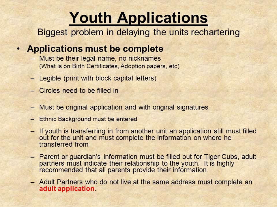 Add New Youth Member Click New Youth to add Click Next Step if none to add