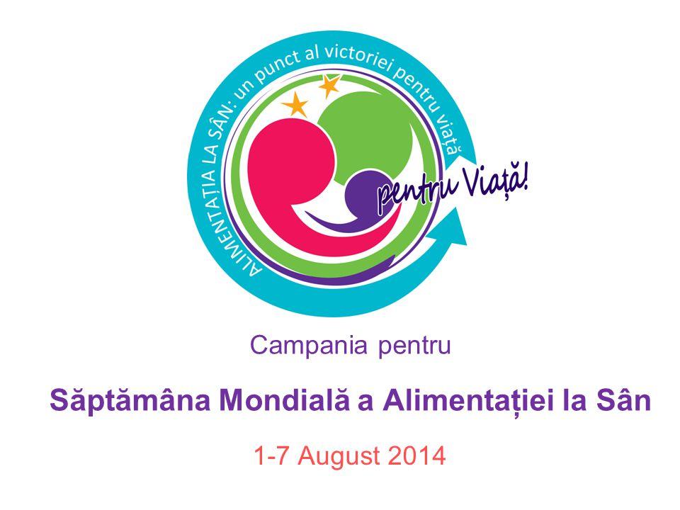 Campania pentru Săptămâna Mondială a Alimentaţiei la Sân 1-7 August 2014
