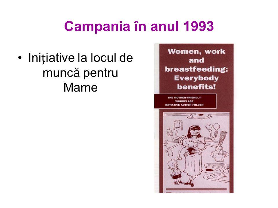 Campania în anul 1993 Iniiative la locul de muncă pentru Mame