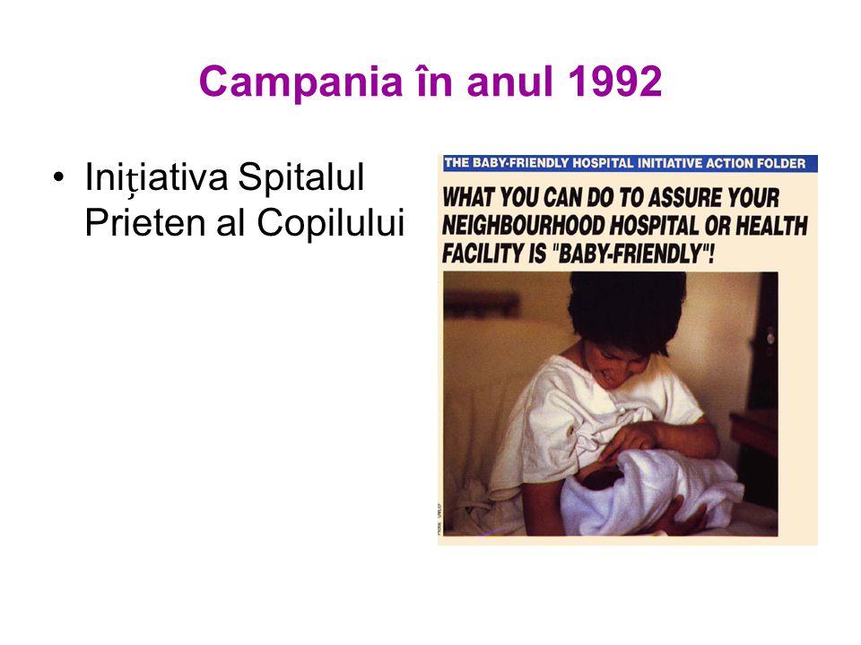 Campania în anul 1992 Iniiativa Spitalul Prieten al Copilului