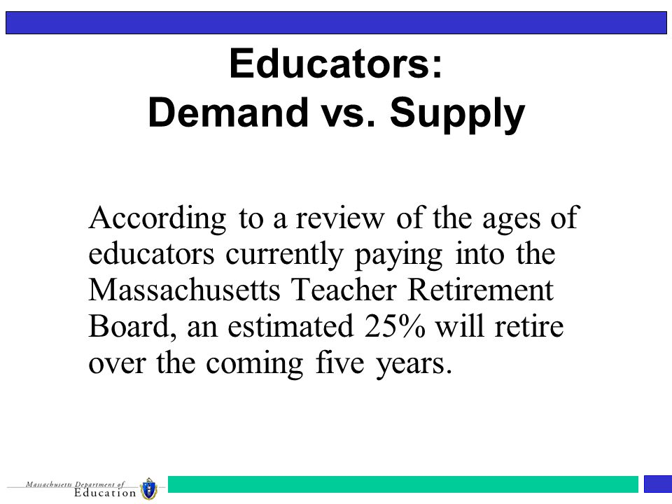 Educators: Demand vs.