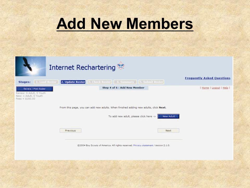 Add New Members