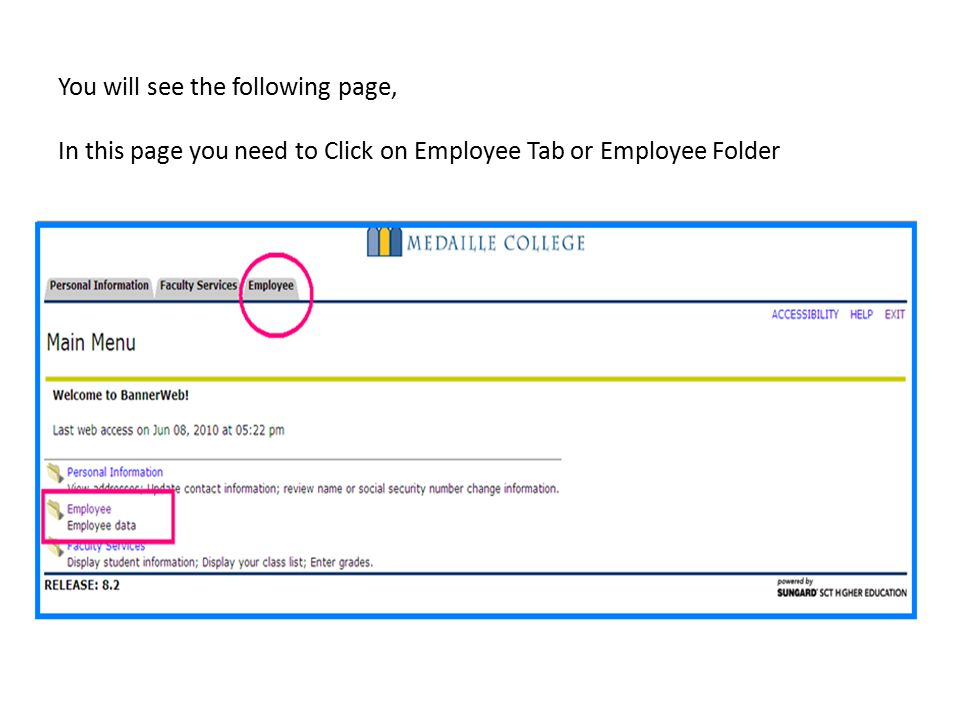 You will see the following page, In this page you need to Click on Employee Tab or Employee Folder