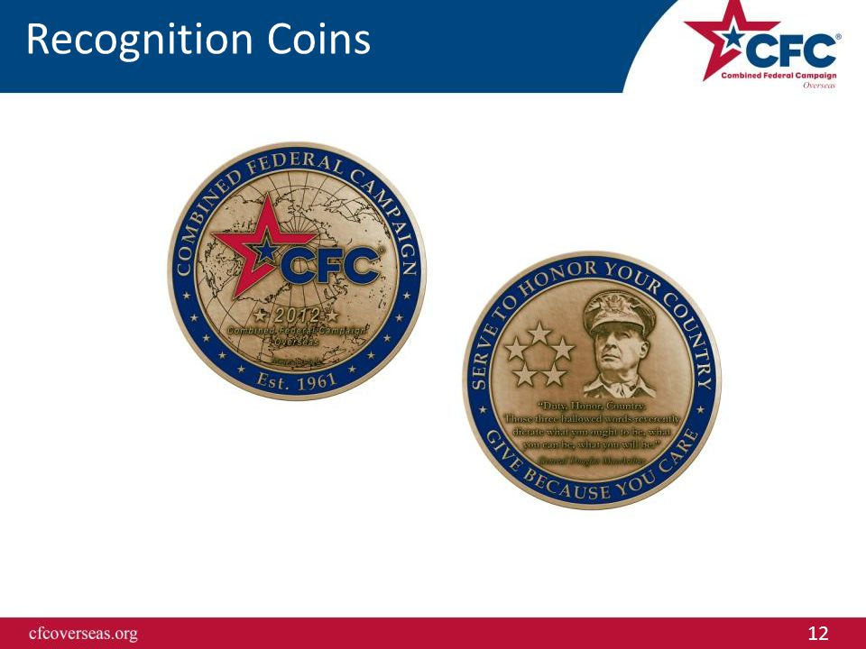 12 Recognition Coins