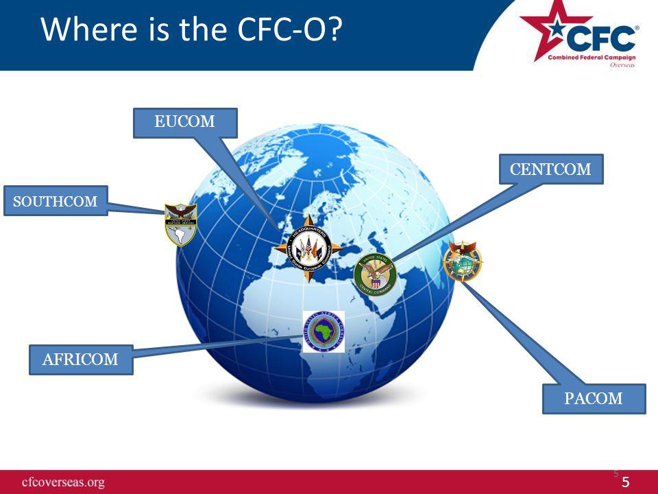 5 Where is the CFC-O? 5 AFRICOM CENTCOM SOUTHCOM PACOM EUCOM