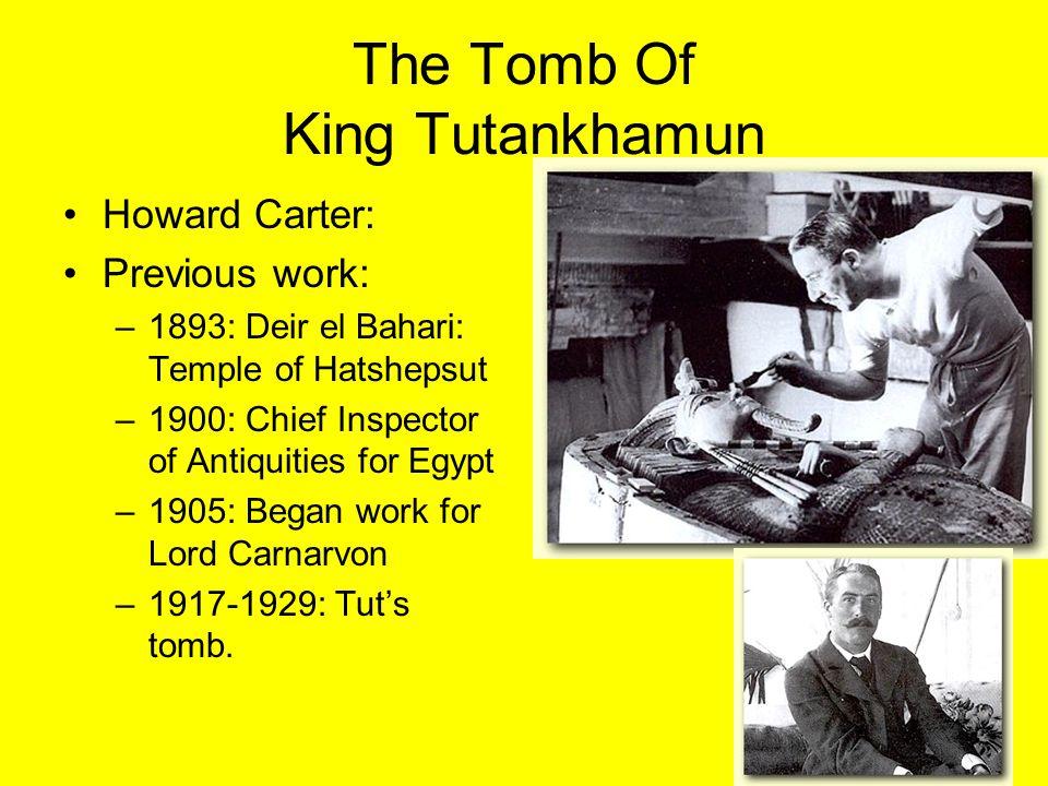 TUTS TOMB Antechamber –Rams Head –Head of Tut: On wood