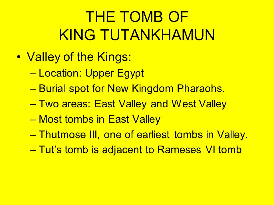 TUTS TOMB Burial Chamber: –Third Coffin: Solid gold, weighs 243 lbs and is 74 inches in length.