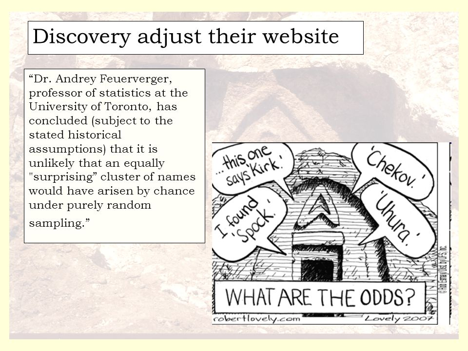Discovery adjust their website Dr.