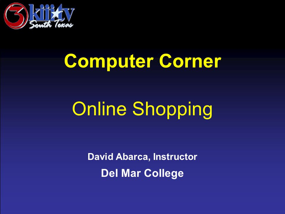 Computer Corner Online Shopping Shop Safe Sites Protect Your Identity Print Receipt Check your account
