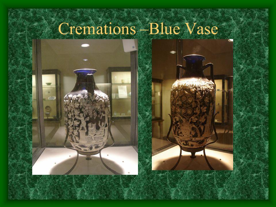 Cremations –Blue Vase