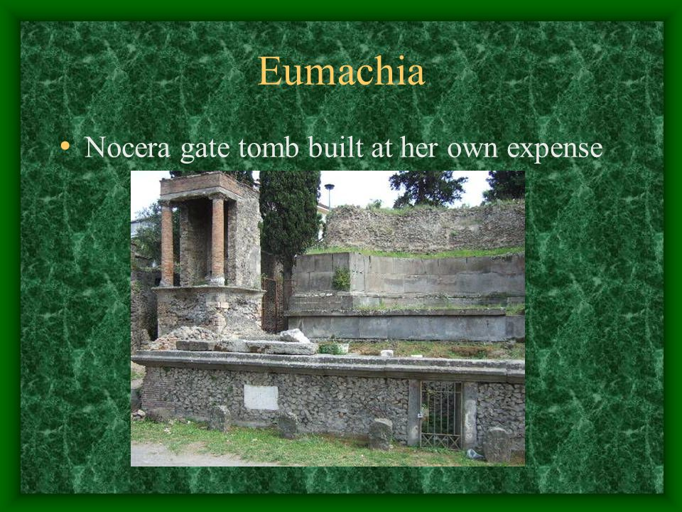 Eumachia Nocera gate tomb built at her own expense