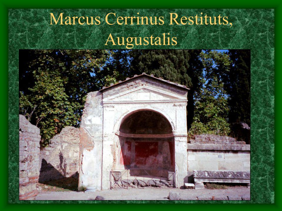 Marcus Cerrinus Restituts, Augustalis