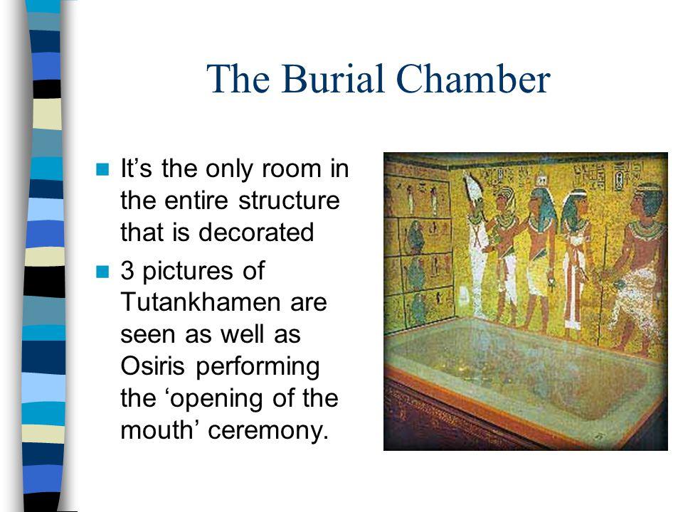 King Tutankhamen A statue of Tutankhamen being carried by a tiger.
