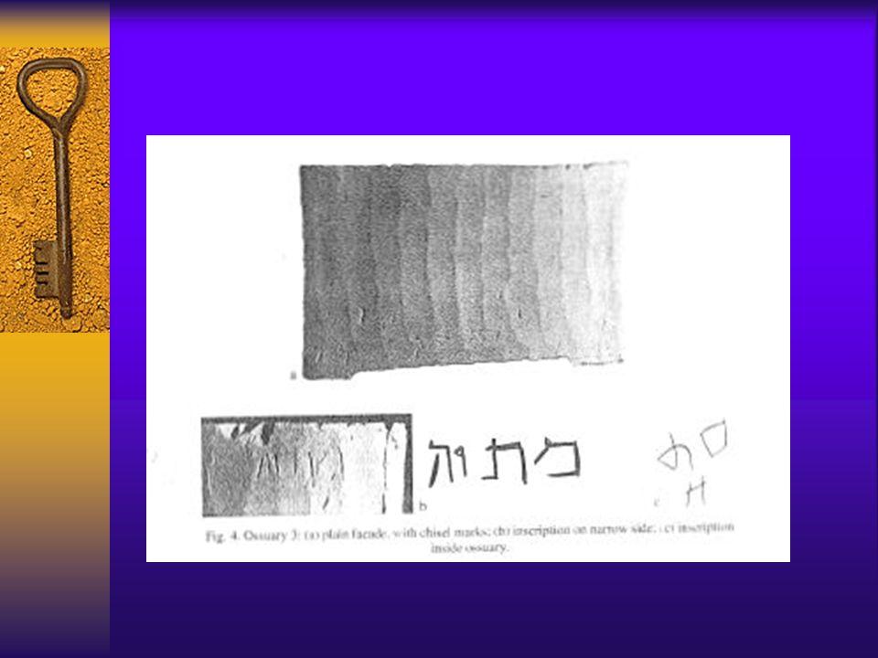 Ossuary # 4 Yeshua? bar Yehosef = Jesus? son of Joseph