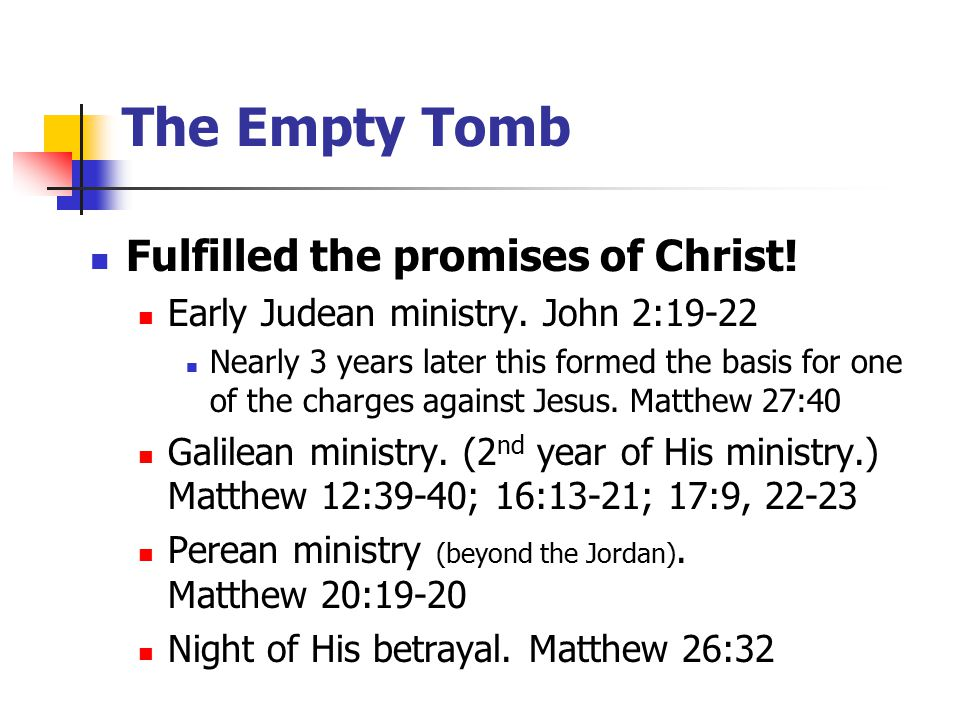 Fulfilled the promises of Christ. Early Judean ministry.