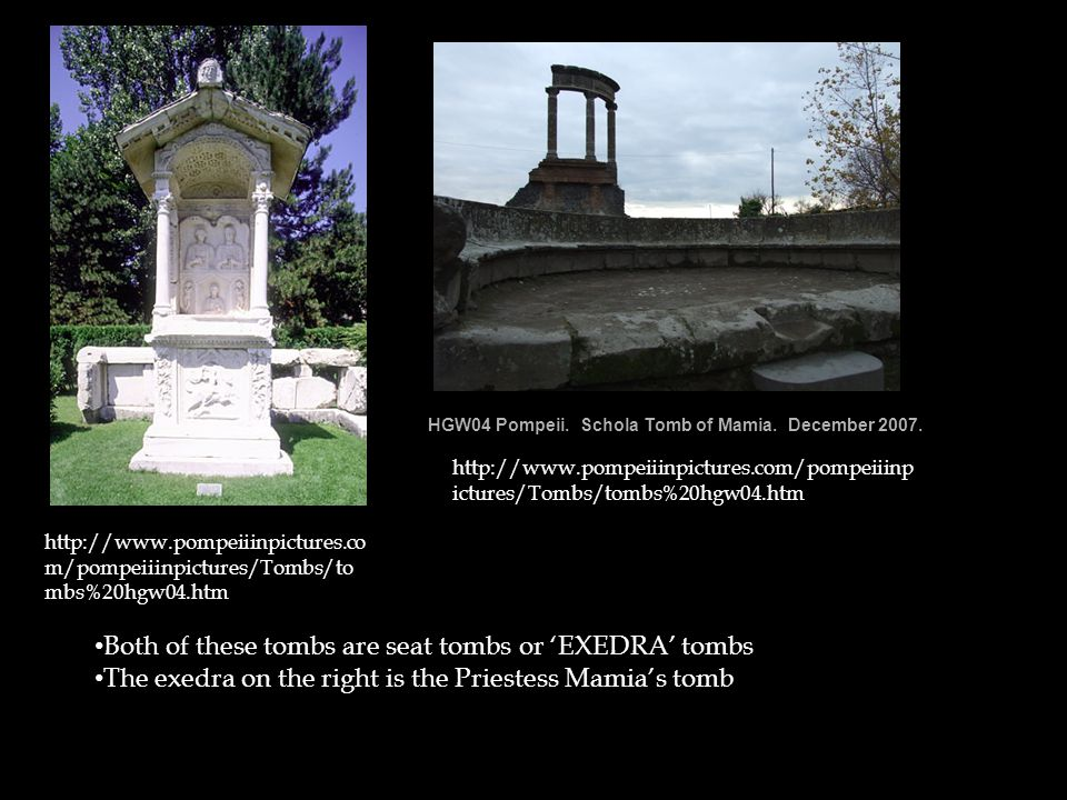 http://www2.cnr.ed u/home/araia/Euma chia.html The statue of Eumachia was dedicated to her