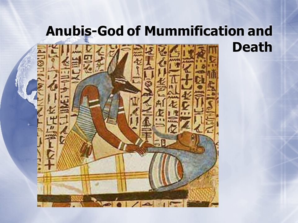 Anubis-God of Mummification and Death