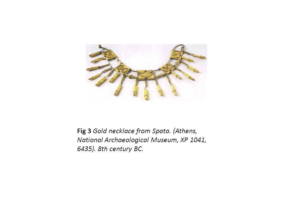 Fig 3 Gold necklace from Spata. (Athens, National Archaeological Museum, XP 1041, 6435).