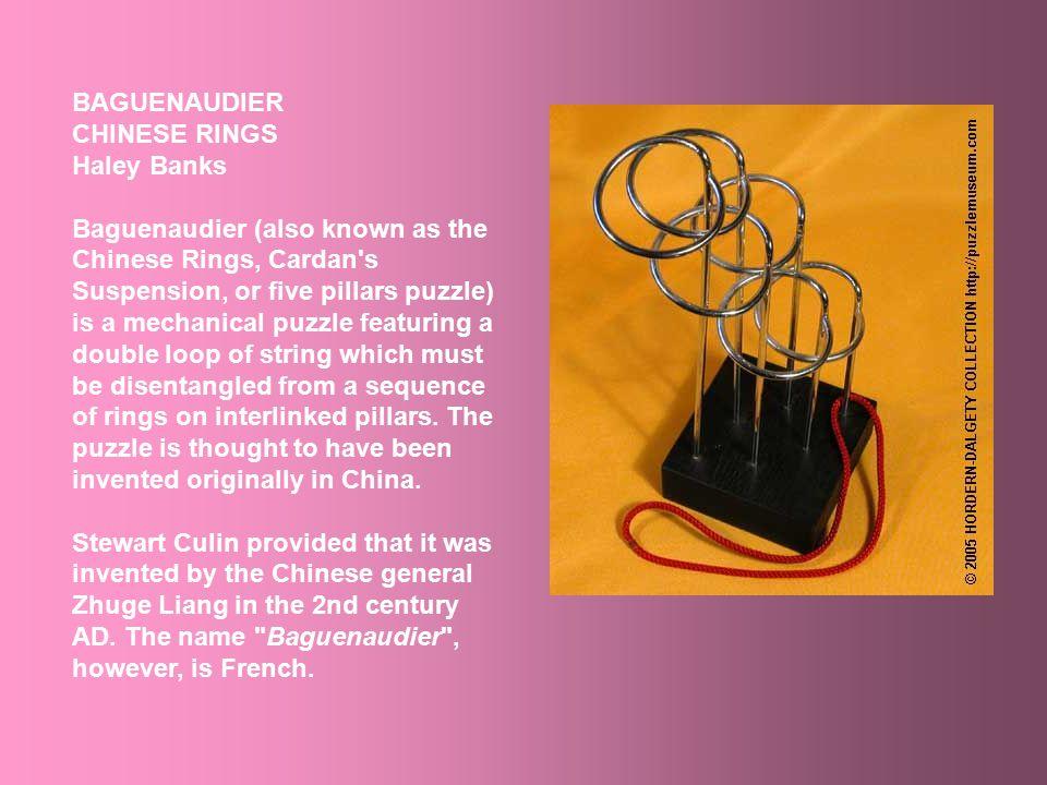 Haley Banks Baguenaudier Chinese Rings – China