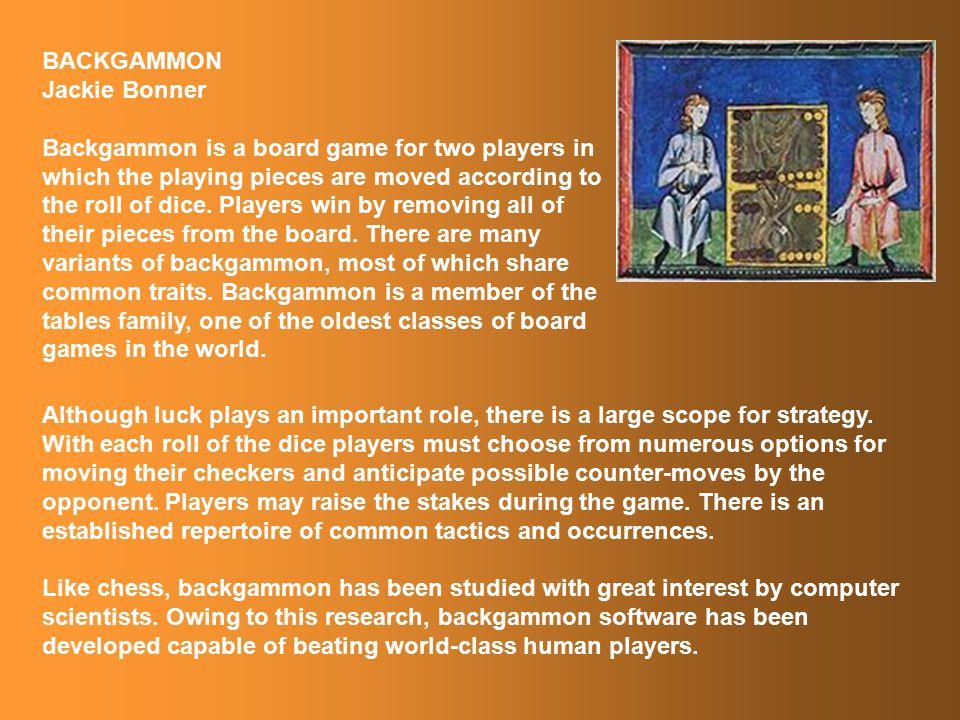Backgammon – Persia Jackie Bonner