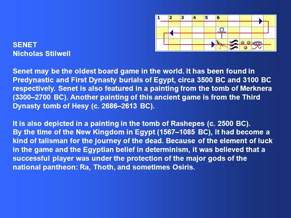 Nicholas Stilwell Senet - Egypt