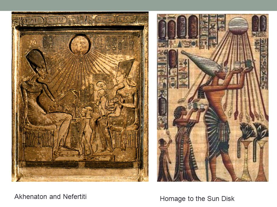 Akhenaton and Nefertiti Homage to the Sun Disk