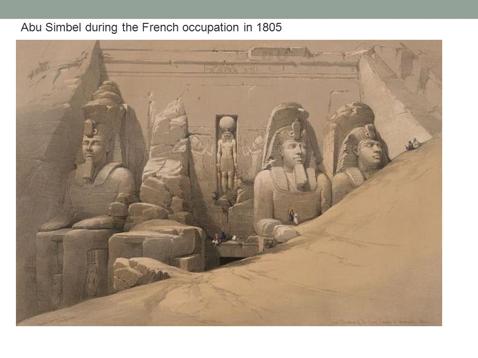 Abu Simbel during the French occupation in 1805