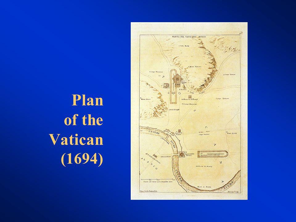 Plan of the Vatican (1694)