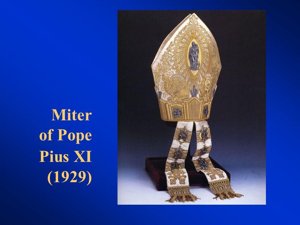 Miter of Pope Pius XI (1929)