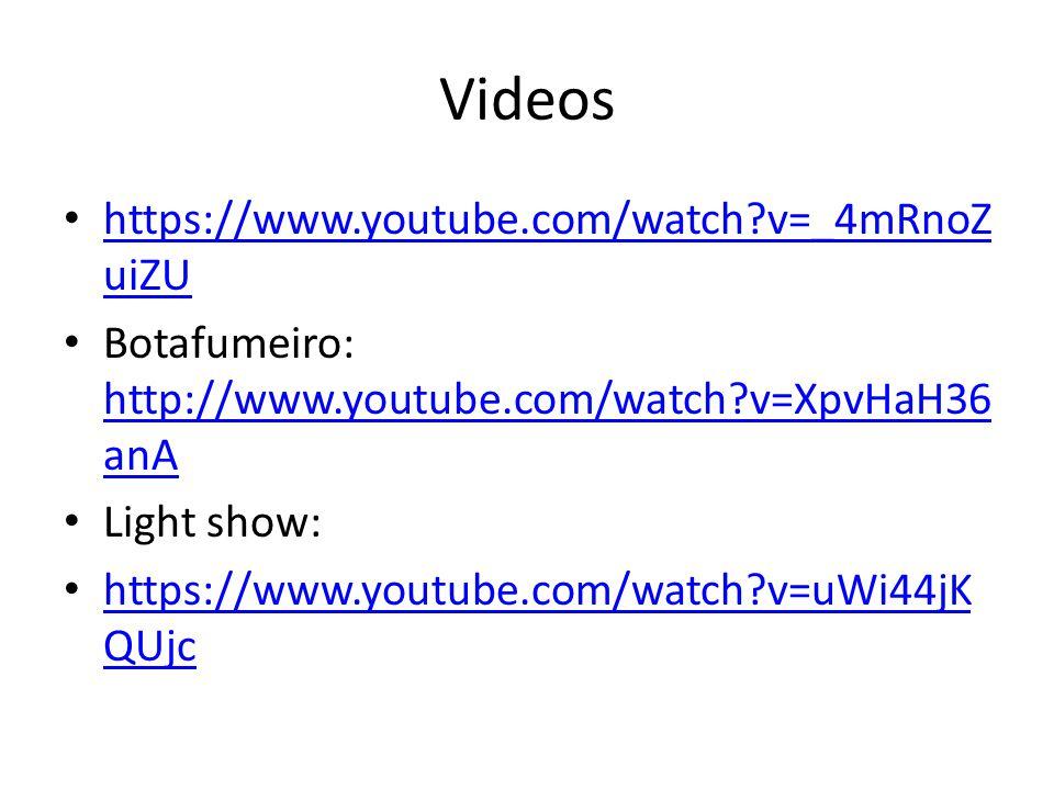 Videos https://www.youtube.com/watch v=_4mRnoZ uiZU https://www.youtube.com/watch v=_4mRnoZ uiZU Botafumeiro: http://www.youtube.com/watch v=XpvHaH36 anA http://www.youtube.com/watch v=XpvHaH36 anA Light show: https://www.youtube.com/watch v=uWi44jK QUjc https://www.youtube.com/watch v=uWi44jK QUjc
