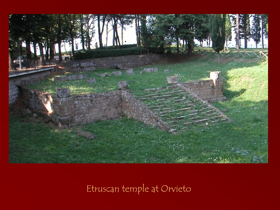 Etruscan temple at Orvieto