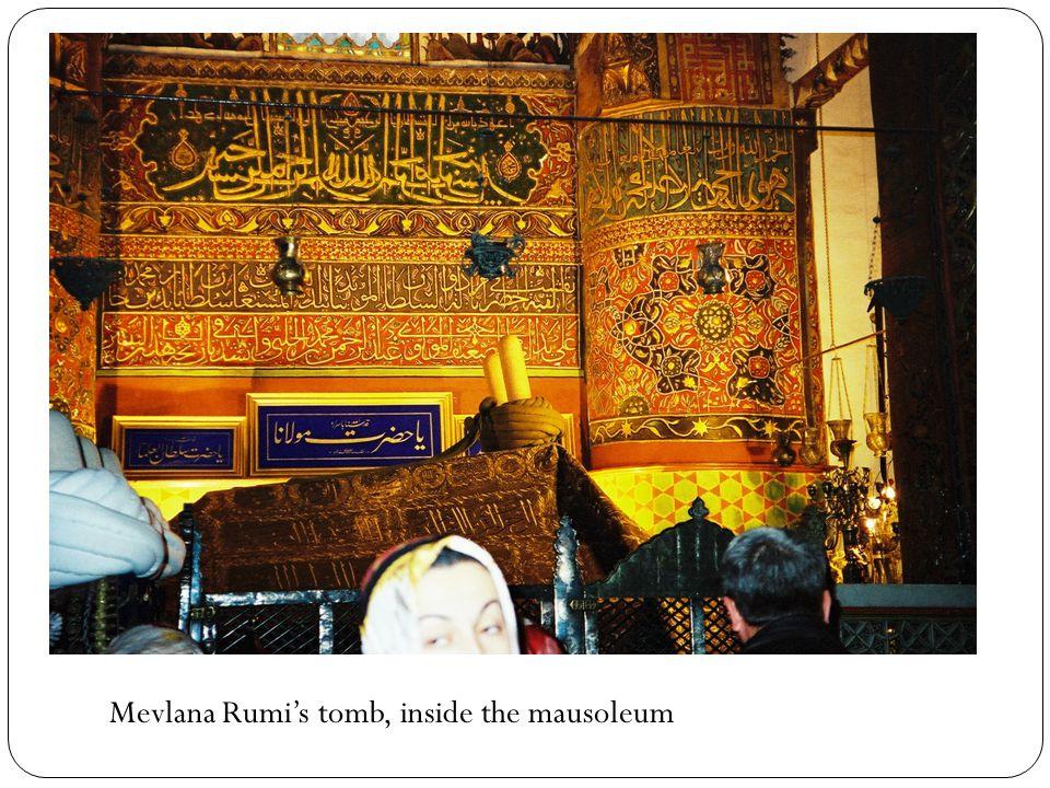 Mevlana Rumi's tomb, inside the mausoleum