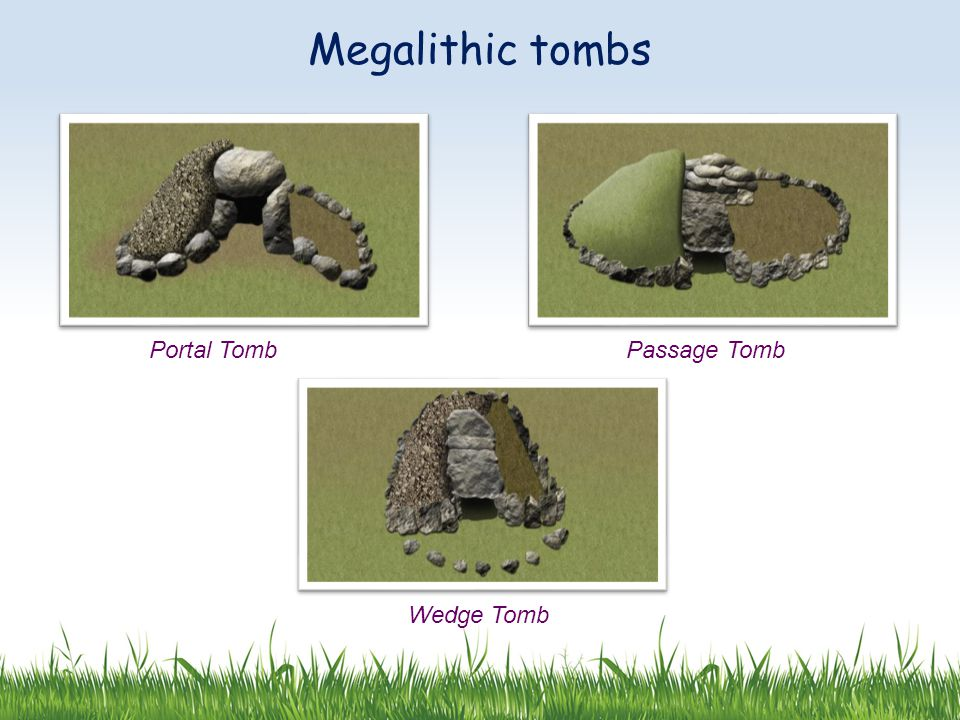 Megalithic tombs Portal TombPassage Tomb Wedge Tomb
