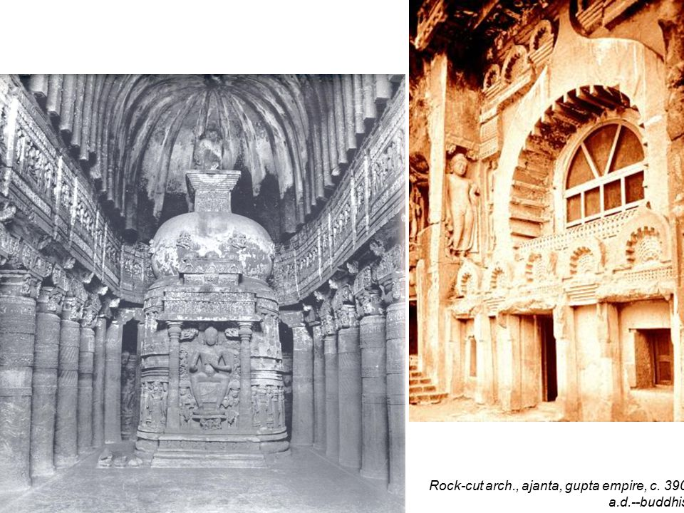 Rock-cut arch., temple at elephanta, c. 5 th century., a.d.--hIndu