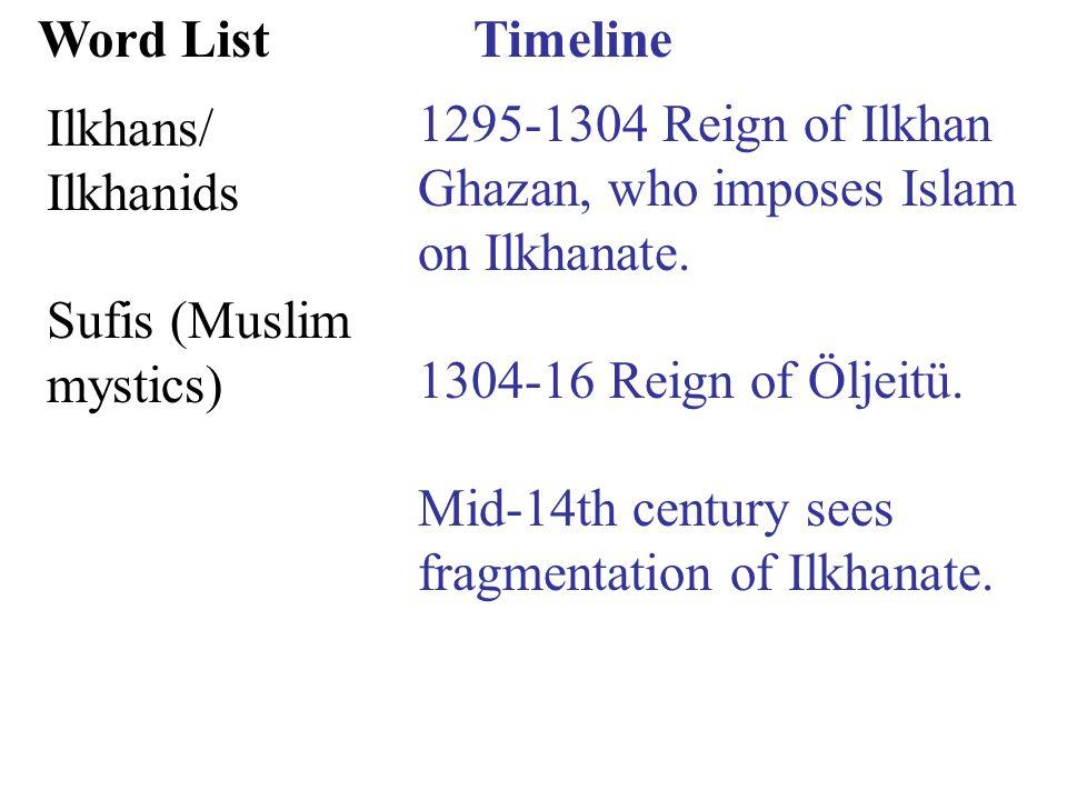 Timeline 1361 Temür (Tamerlane/ Tamburlaine/Temür the Lame, r.