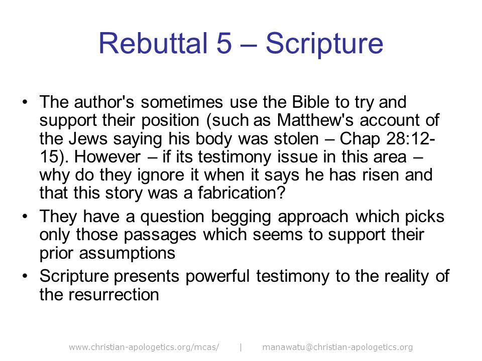 www.christian-apologetics.org/mcas/ | manawatu@christian-apologetics.org He Has Risen Indeed.