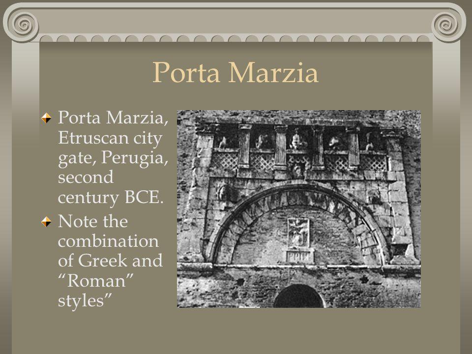 Porta Marzia Porta Marzia, Etruscan city gate, Perugia, second century BCE.