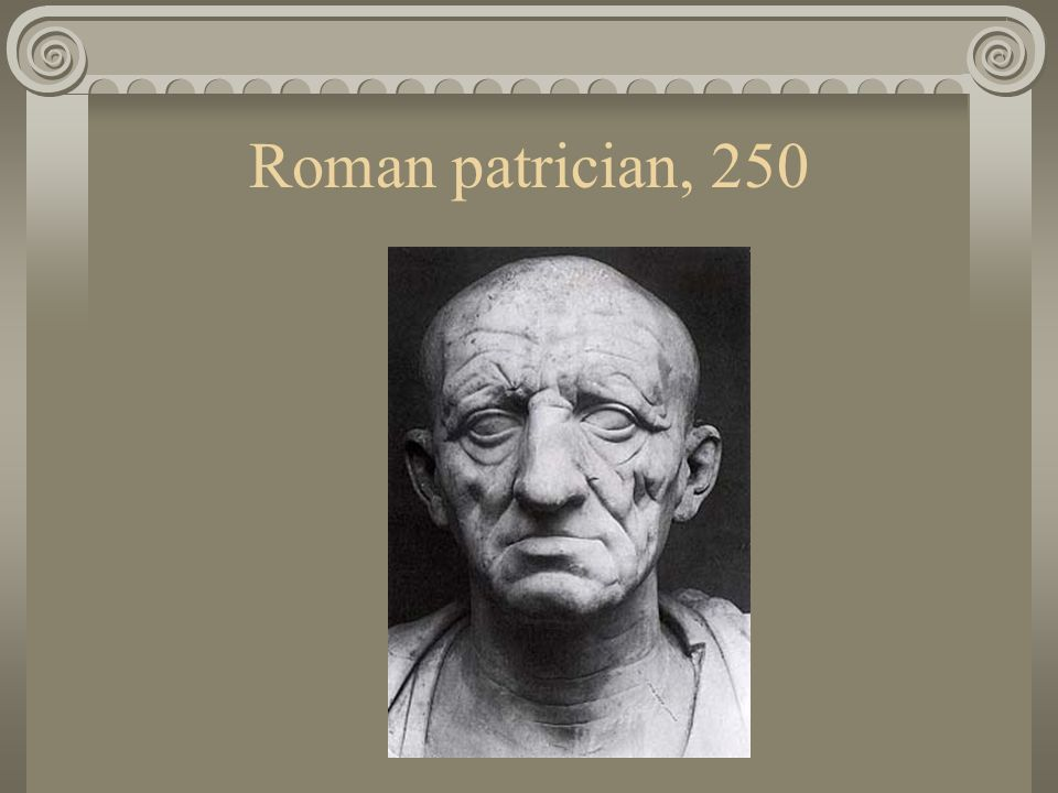 Roman patrician, 250