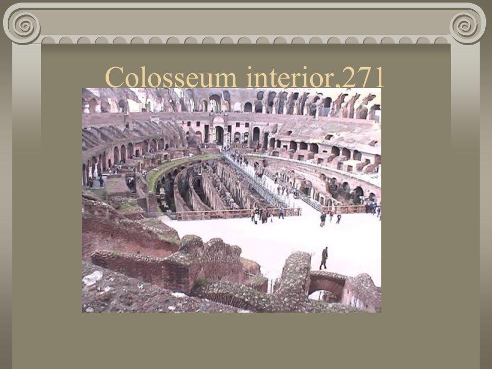 Colosseum interior,271