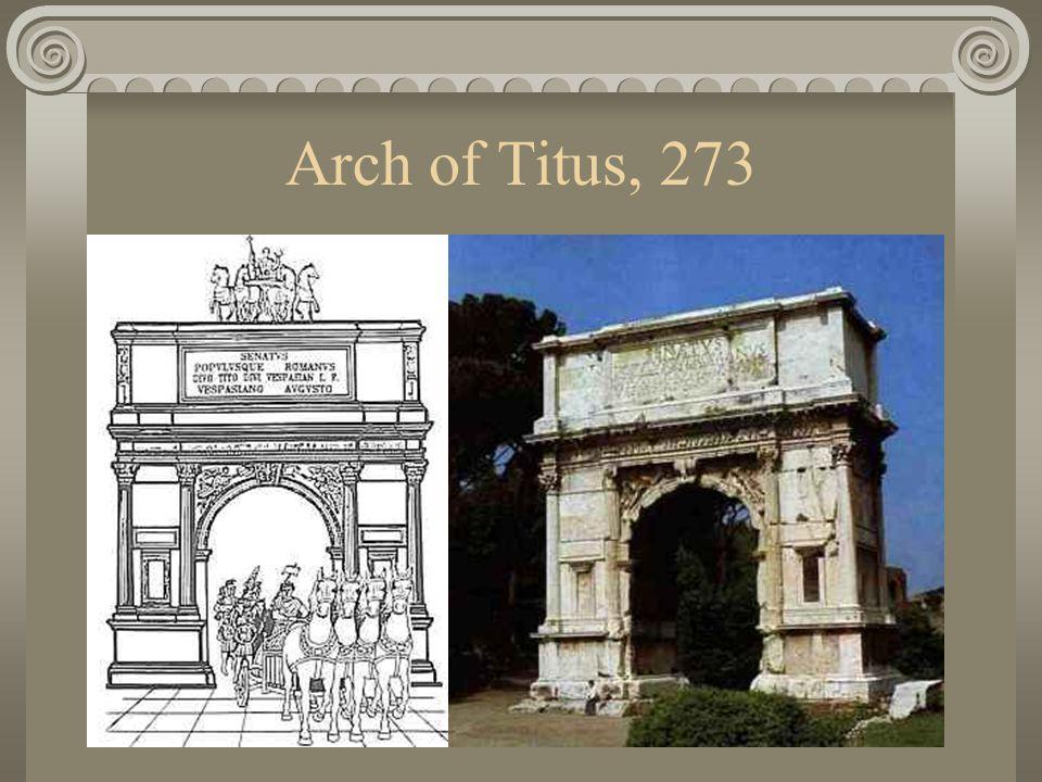 Arch of Titus, 273