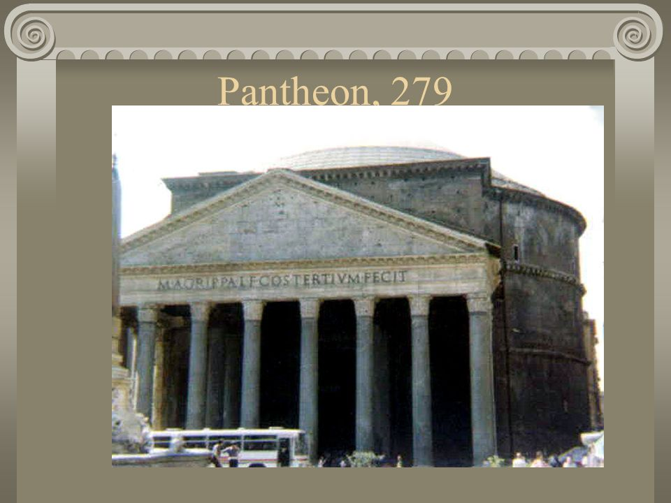 Pantheon, 279