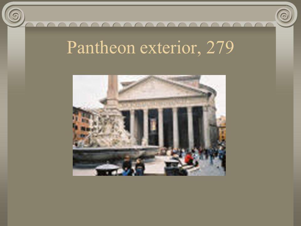 Pantheon exterior, 279