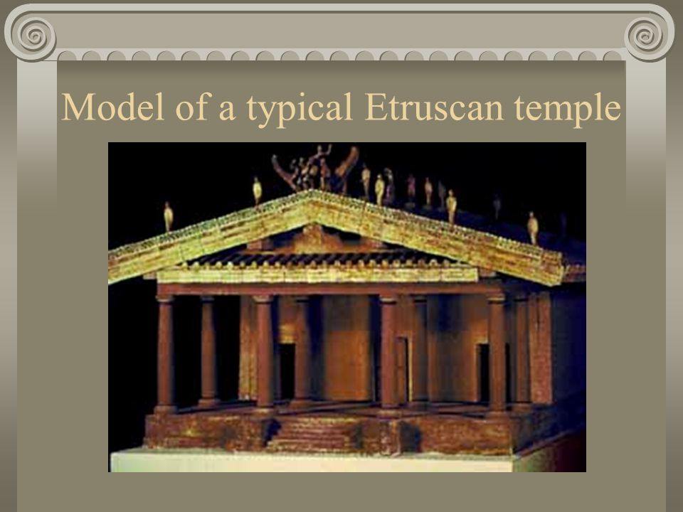 A typical Etruscan temple