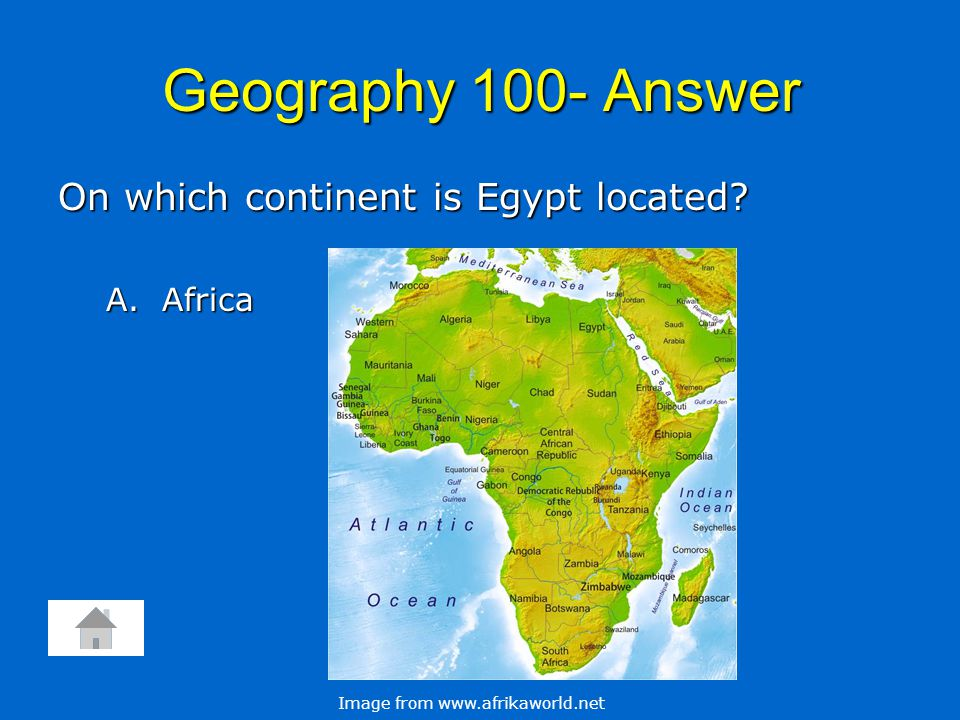 Geography 200 In which direction does the Nile River flow.