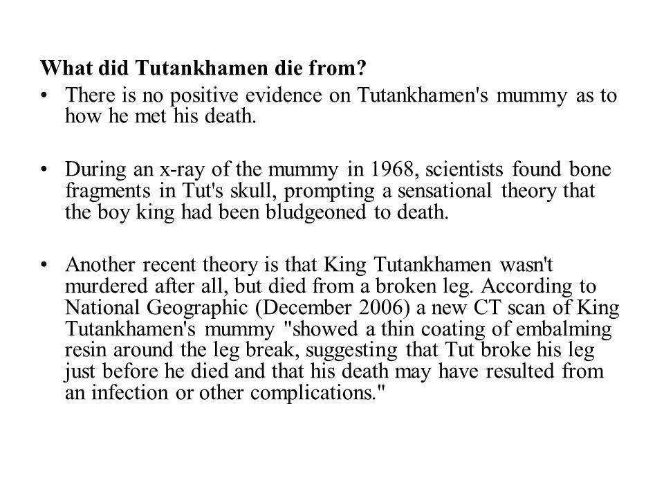 What did Tutankhamen die from.