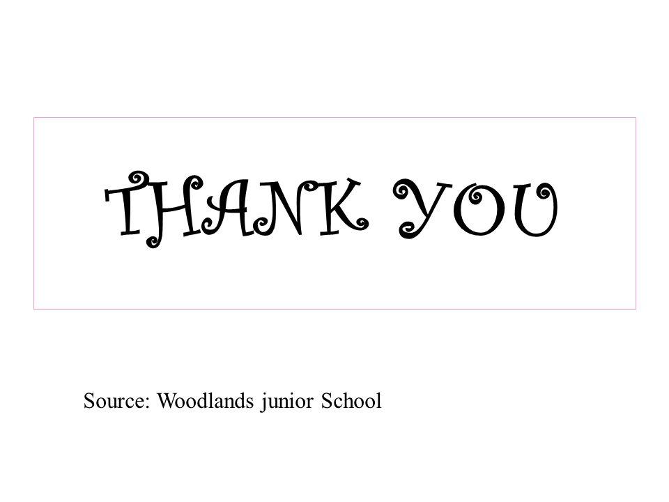 THANK YOU Source: Woodlands junior School