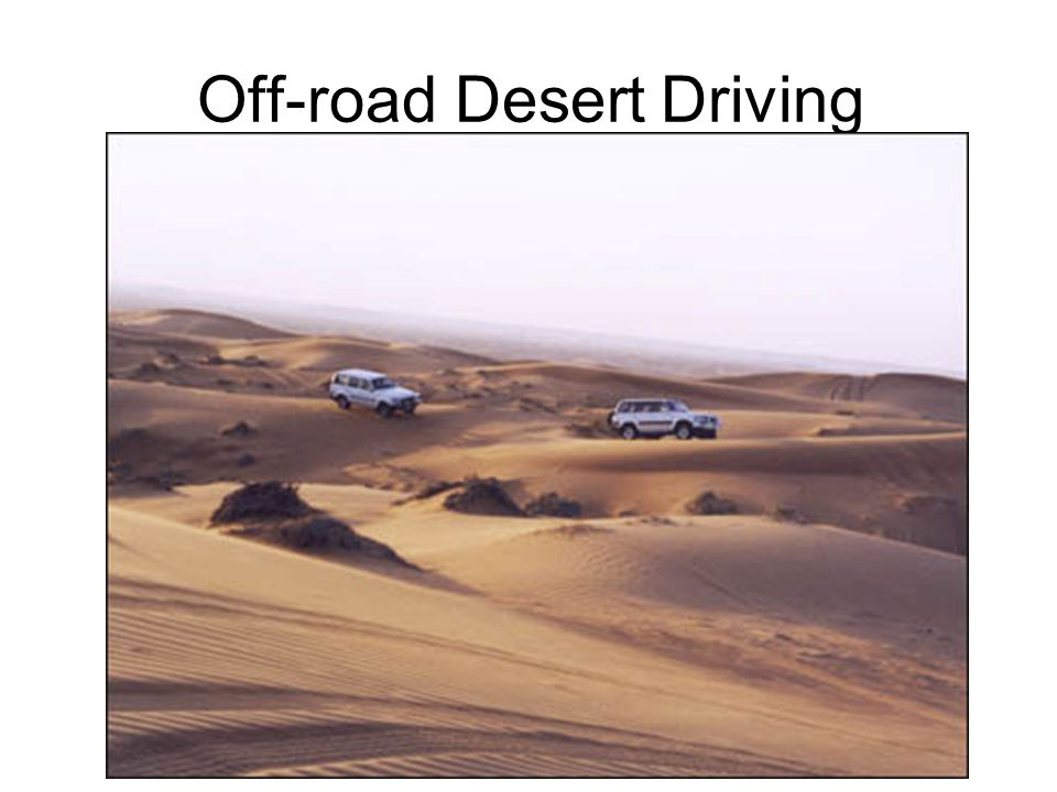 Off-road Desert Driving