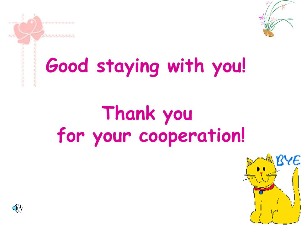 Good staying with you! Thank you for your cooperation!