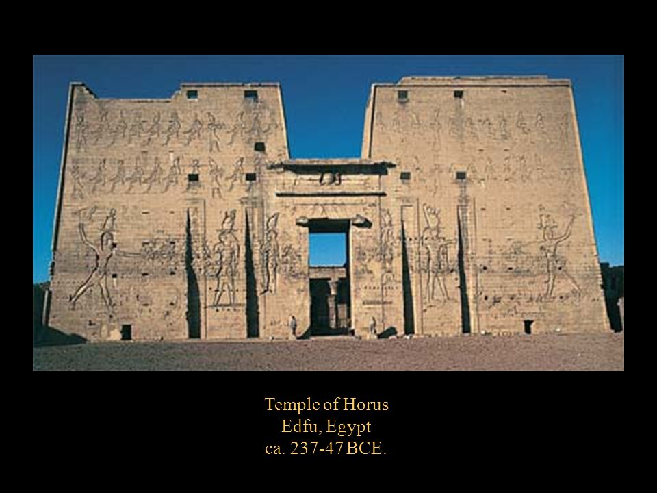 Temple of Horus Edfu, Egypt ca. 237-47 BCE.