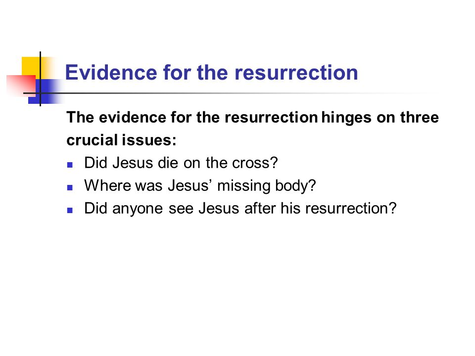…was it Jesus who died on that cross.